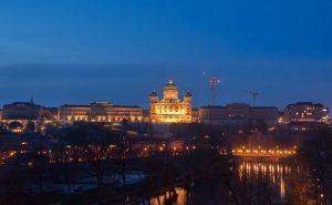 Vedere de la depărtare a Palatului Federal din Berna