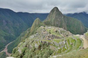Vedere aerială a vechiului oraș incaș, Machu Picchu