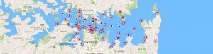 Cele mai bune puncte din care poți admira spectacolul de artificii din Sydney; sursa: ;http://www.sydneynewyearseve.com/vantage-points/